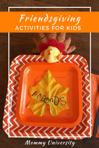 Educational Activities for Kids on Friendsgiving