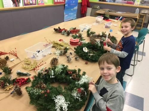 Michaels Wreath Decorating Event