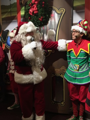 Santa and Elf at Hersheypark Place