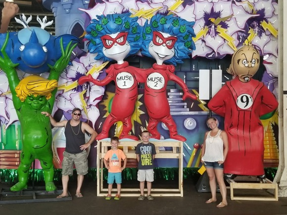 Dr. Seuss at Mardi Gras World