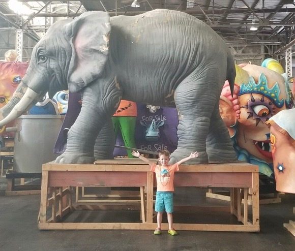 Elephant at Mardi Gras World
