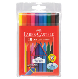 Faber Castell Grip Color Markers 10ct