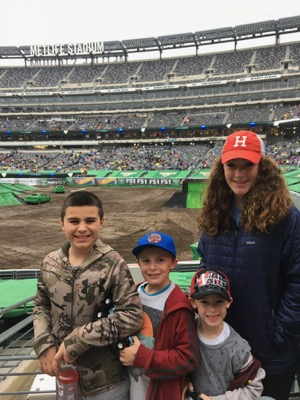 Kids at Monster Jam