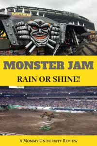 Monster Jam Rain or Shine Review
