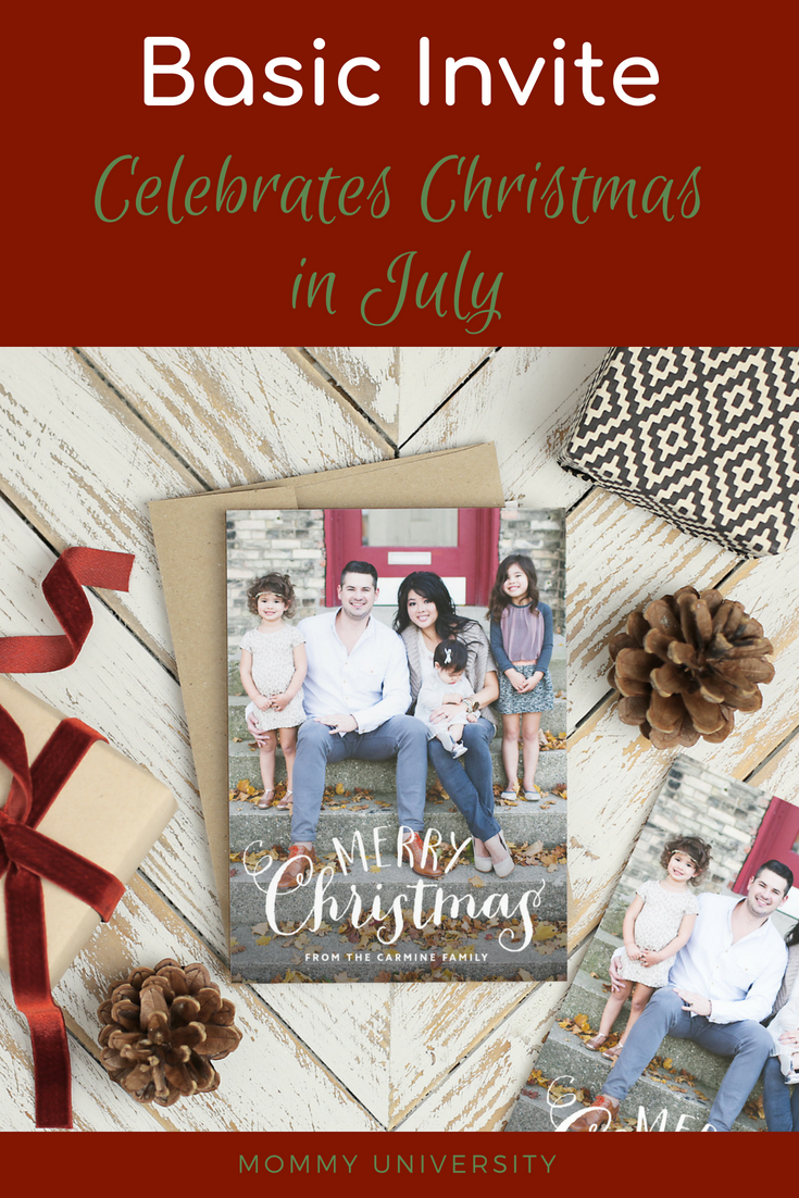 Basic Invite Celebrates Christmas in July
