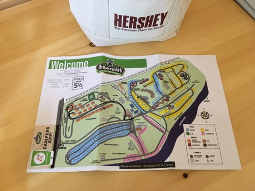 Hersheypark Camping Resort Map