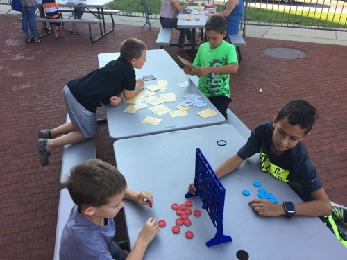 Games at Dinos After Dark at Academy of Natural Sciences