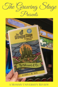 The Growing Stage Presents The Wizard of Oz