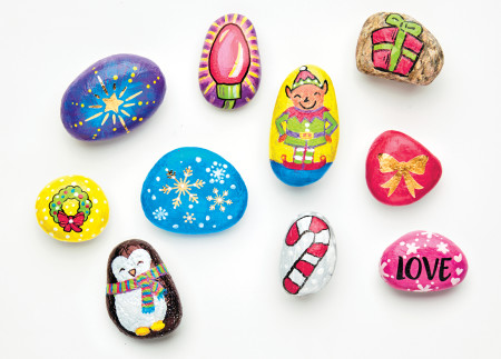 Holiday Painted Rocks CFK