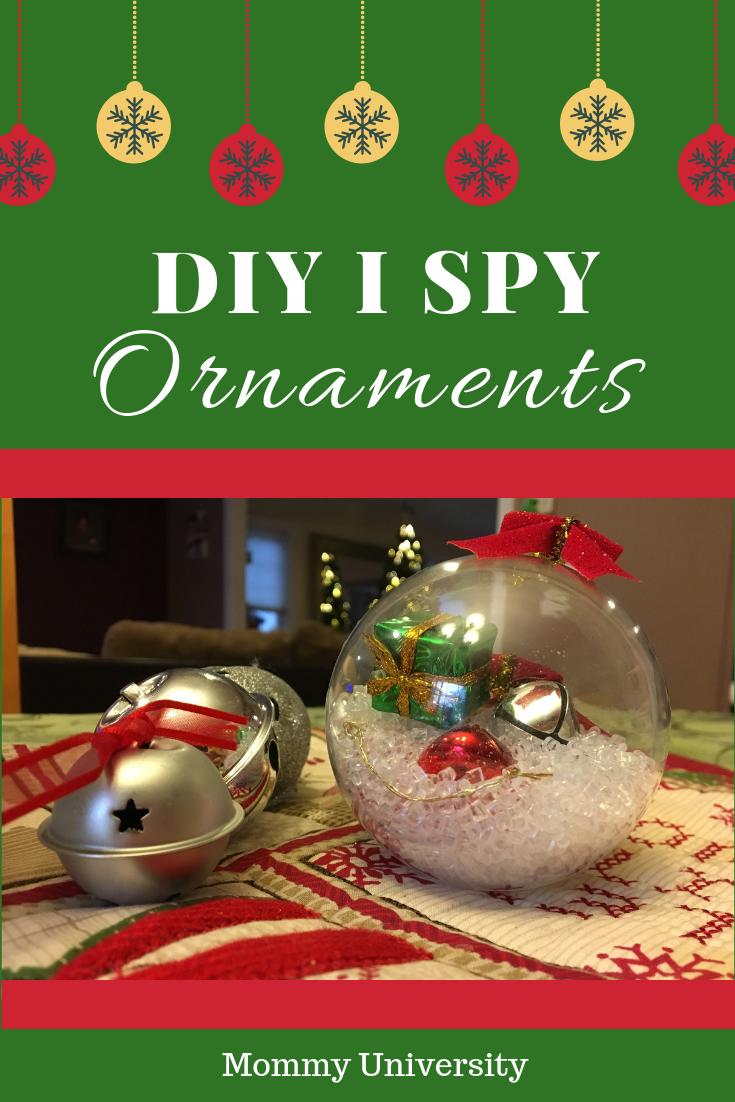DIY I Spy Ornaments