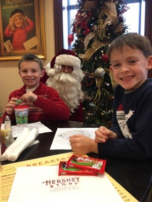 Breakfast with Santa at Hershey Story