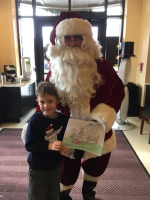 Coloring Sheet at Breakfast with Santa at Hershey Story