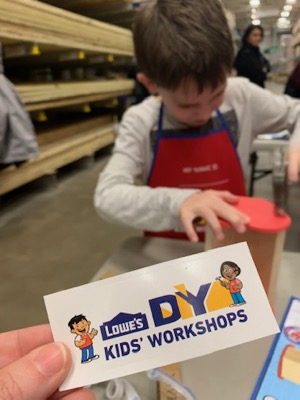 Lowe's DIY Kids Workshop