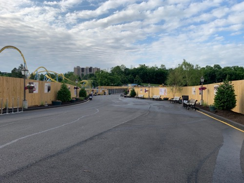 Hersheypark Entrance during construction