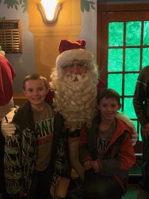 Santa at Elf the Musical