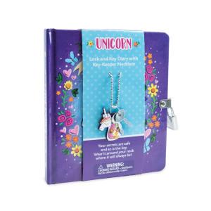 Peaceable Kingdom Unicorn Charm Diary