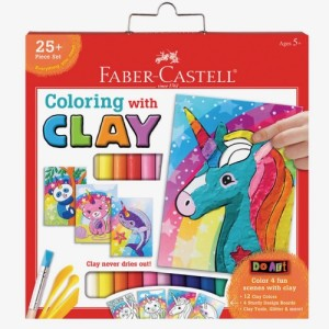 Coloring with Clay Unicorn