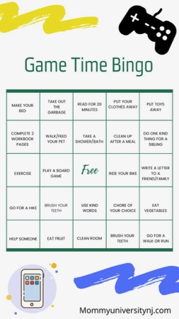 Game Time Bingo Board-2