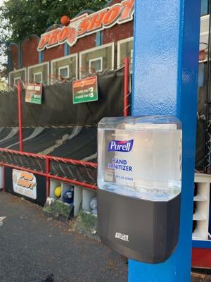 Hand Sanitizer at Hersheypark