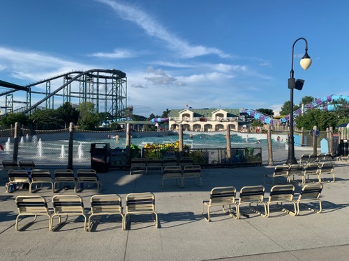 Social Distanced Chairs at Hersheypark