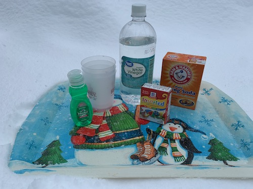 ingredients for snow volcano