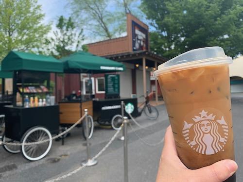 Starbucks Bike at Hersheypark