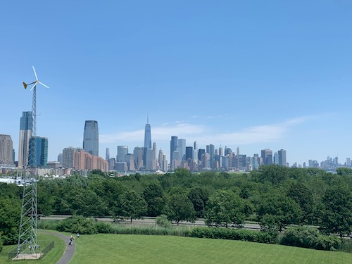 View of NYC from Liberty Science Center